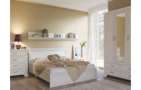 Спальный гарнитур Tiffany в цвете Вудлайн кремовый