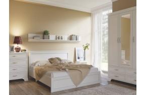 Спальный гарнитур Tiffany в цете Вудлайн кремовый