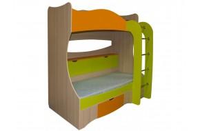 Кровать двухъярусная Незнайка (80x200)