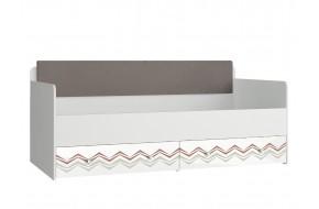 Кровать с мягким элементом Модерн - Абри (90х190)