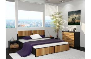 Спальный гарнитур Рамона в цете Слива