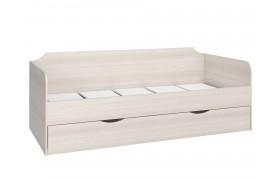 Кровать Флауэ в цвете Авола Белая/ Бирюза